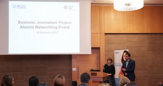 Meeting with graduators of business journalism project held in Baku