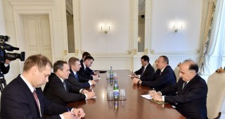 President Ilham Aliyev received delegation led by Latvian Foreign Minister
