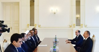 President Ilham Aliyev received delegation led by Iranian Minister of Justice