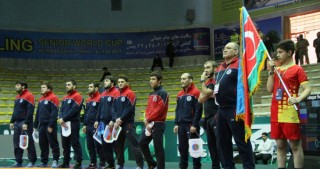 Azerbaijani wrestlers win opening match at Freestyle World Cup