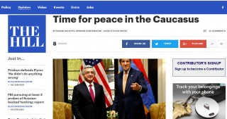 The Hill publishes article on Armenia`s policy of occupation