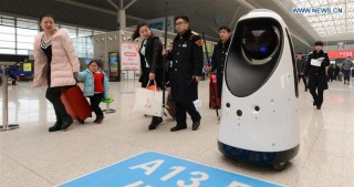 Cops of the Future: First Security Robots to Patrol China's Rail Station