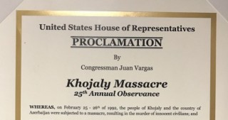 U.S. Congressman issues proclamation on Khojaly Massacre