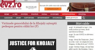 "Romanian ""Evenimentul Zilei"" newspaper publishes article on Khojaly genocide"