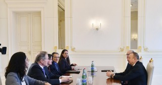 President Ilham Aliyev received US delegation