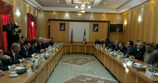 Azerbaijani delegation visiting Ardabil city of Iran