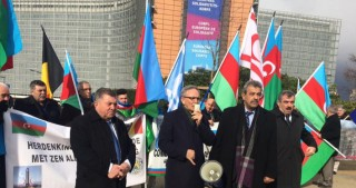 Khojaly commemorative rally staged outside European Commission headquarters