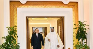 Azerbaijani President, Emir of Qatar had one-on-one meeting