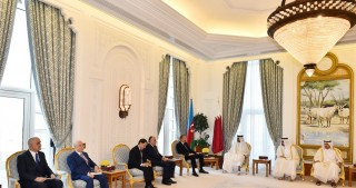Azerbaijani President, Emir of Qatar held an expanded meeting