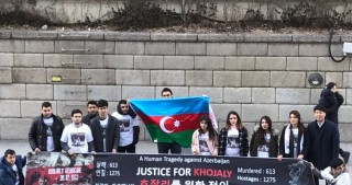 Azerbaijanis march in Seoul to commemorate Khojaly victims