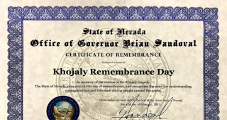 Governor of U.S. State of Nevada signs document on Khojaly Tragedy