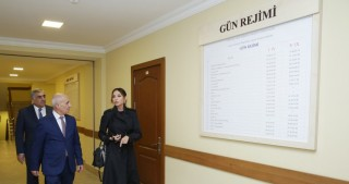 Azerbaijan`s First Vice-President Mehriban Aliyeva views special boarding school No. 6 in Turkan