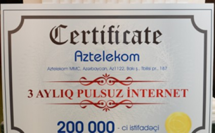 The number of subscribers of Aztelekom.net reaches 200 thousand