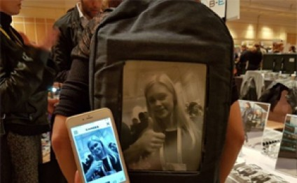 The POP-I backpack with an e-ink display was all the buzz at CES