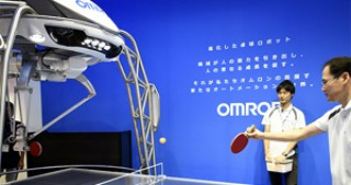 In Japan, the robot is issued a license coach in table tennis