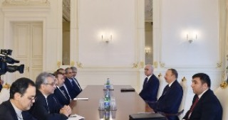 President Ilham Aliyev receives a delegation led by Minister of Information and Communications Technology of Iran