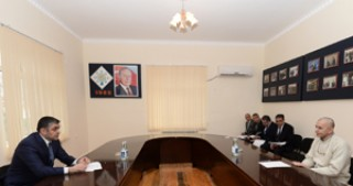 Minister of Communications and High Technologies Ramin Guluzade receives citizens in Shirvan