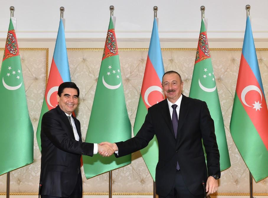 Azərbaycan-Türkmənistan sənədləri imzalandı - FOTOLAR