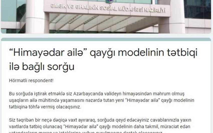 """""""Himayədar ailə"""" adlı yeni layihə hazırlandı"""