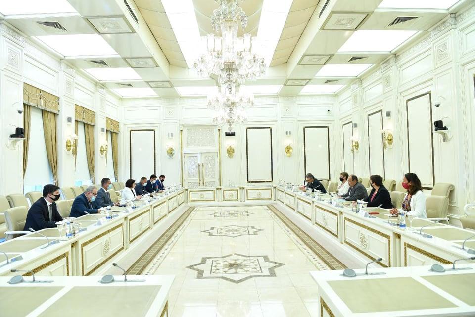 Spiker Fransa Milli Assambleyasının nümayəndə heyəti ilə görüşdü