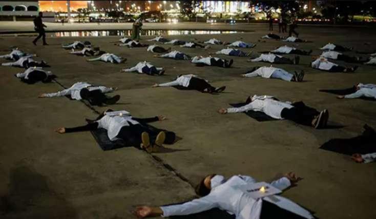Braziliyada virus sürətlə artmağa davam edir: Son üç gündə 2500 insan ölüb