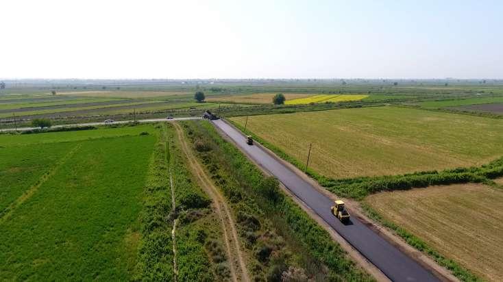 Salyanda uzunluğu 11 km olan yerli əhəmiyyətli avtomobil yolu yenidən qurulur