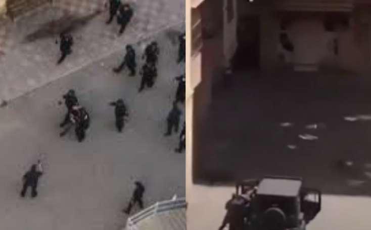 Bakıda polisin başına zibil atanlar saxlanıldı — VİDEO