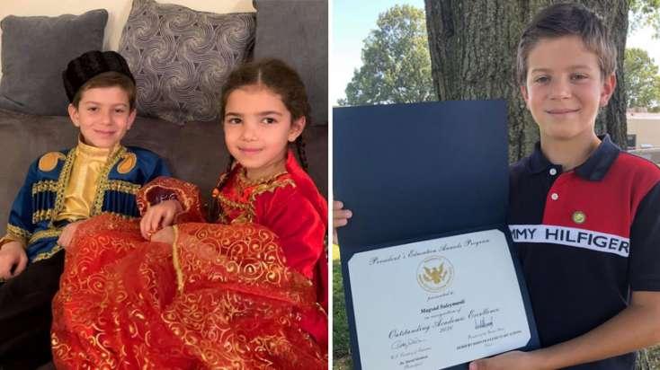 10 yaşlı azərbaycanlı ABŞ-da Prezident Mükafatı aldı - FOTO