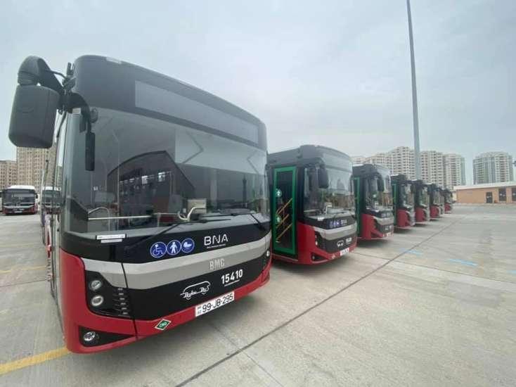 Bakıya yeni avtobusların gətirilməsinə başlandı
