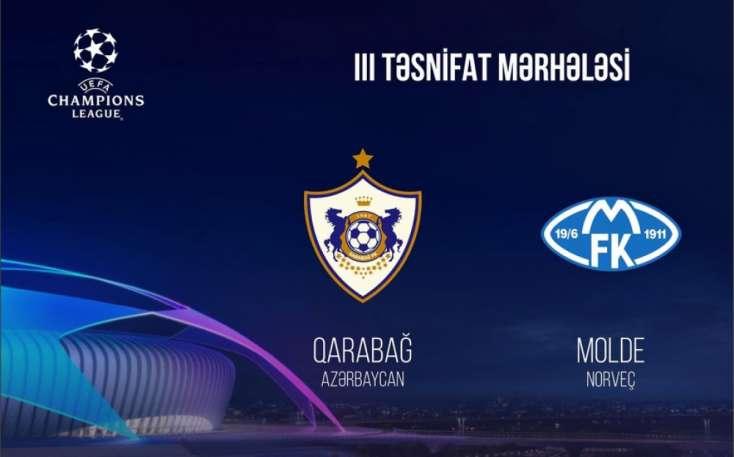 """UEFA """"Qarabağ"""" - """"Molde"""" matçının yerini dəyişdi"""
