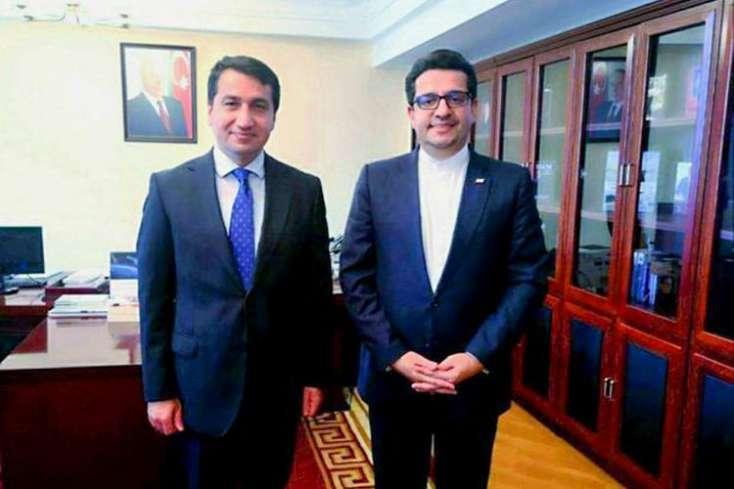 Azərbaycan Prezidentinin köməkçisi İran səfiri ilə görüşüb