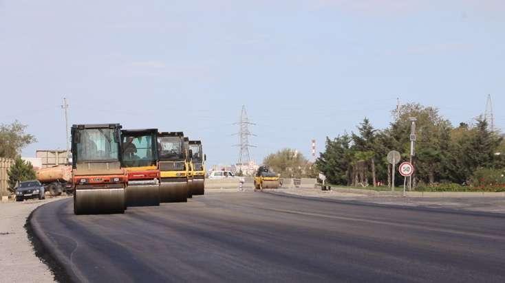 M1 magistralının 16-30-cu km-lik hissəsində təmir-bərpa işləri aparılır