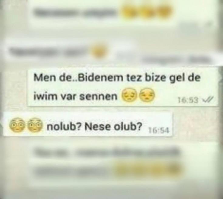 Azərbaycanlı iki sevgilinin 'Whatsapp' yazışması