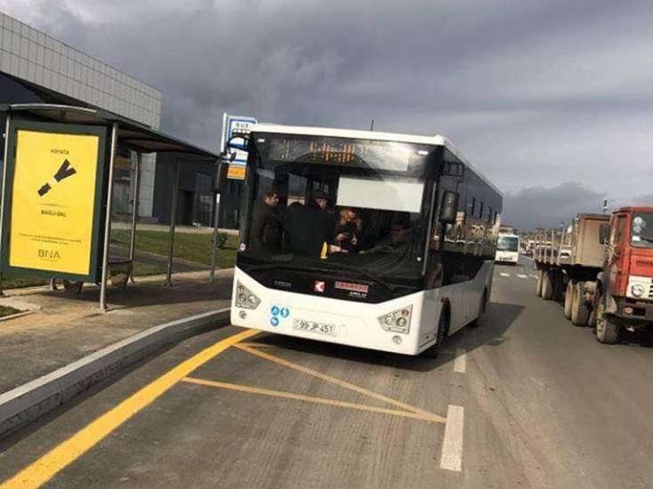 Bakıda daha bir marşruta yeni avtobuslar buraxıldı - FOTO