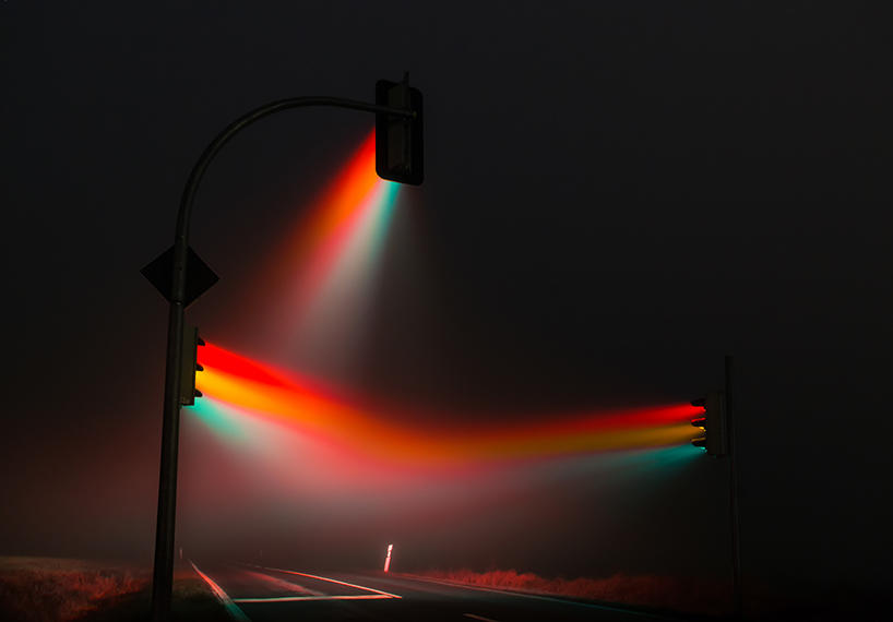 Dumandakı işıqforlar - FOTO
