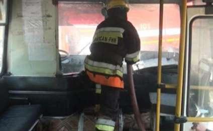 Bakıda 46 saylı avtobusda partlayış və yanğın olub- FOTO