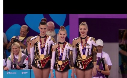 Baku 2015: Belgium wins gold in women's all-around acrobatic gymnastics