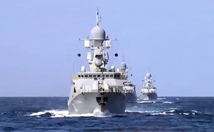 Russia holds naval drills in Caspian