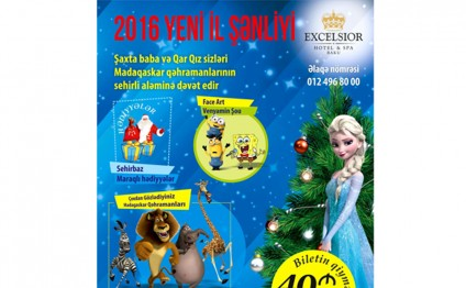 Excelsior Hotel & Spa Baku to hold Kids New Year party