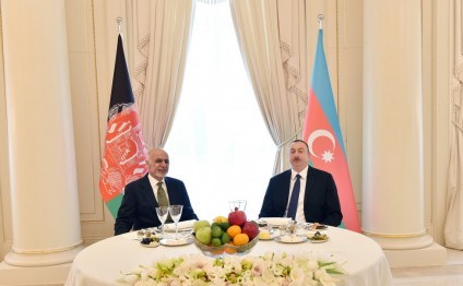 Official dinner reception given in Baku in honor of Afghan president