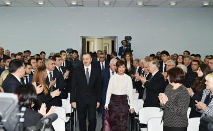 President Aliyev, his spouse attend ceremony dedicated to 2015 sport results (PHOTO)
