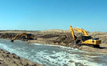 Artificial lake Altyn Asyr being created in Turkmenistan